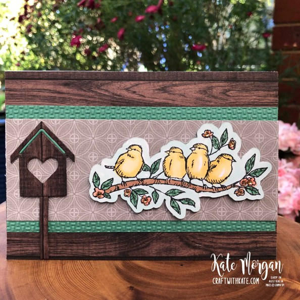 Colour Creations Showcase Just Jade using Stampin Up Free as a Bird by Kate Morgan, Australia 2020