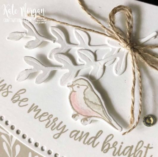 Curvy Christmas card using Stampin Ups Classic Christmas DSP by Kate Morgan Australia 2020