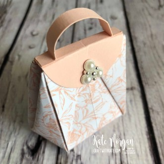 Mini Mary Poppins Bag using Stampin Up Peony Garden DSP by Kate Morgan, Australia 2020