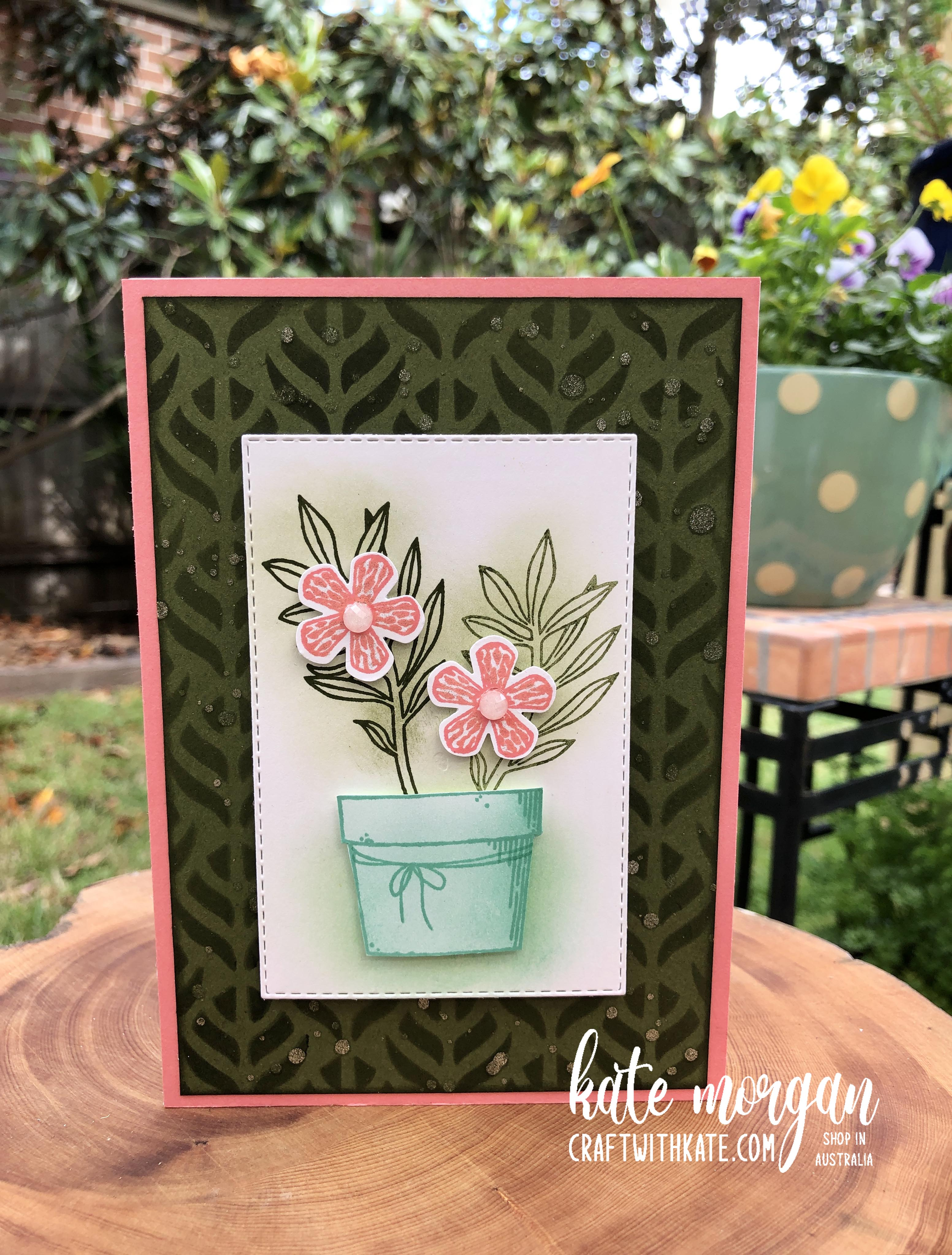 Basket of Blooms for CCS Mossy Meadow by Kate Morgan Stampin Up Australia 2020