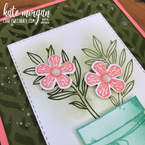 Basket of Blooms for CCS Mossy Meadow by Kate Morgan Stampin Up Australia 2020 close up