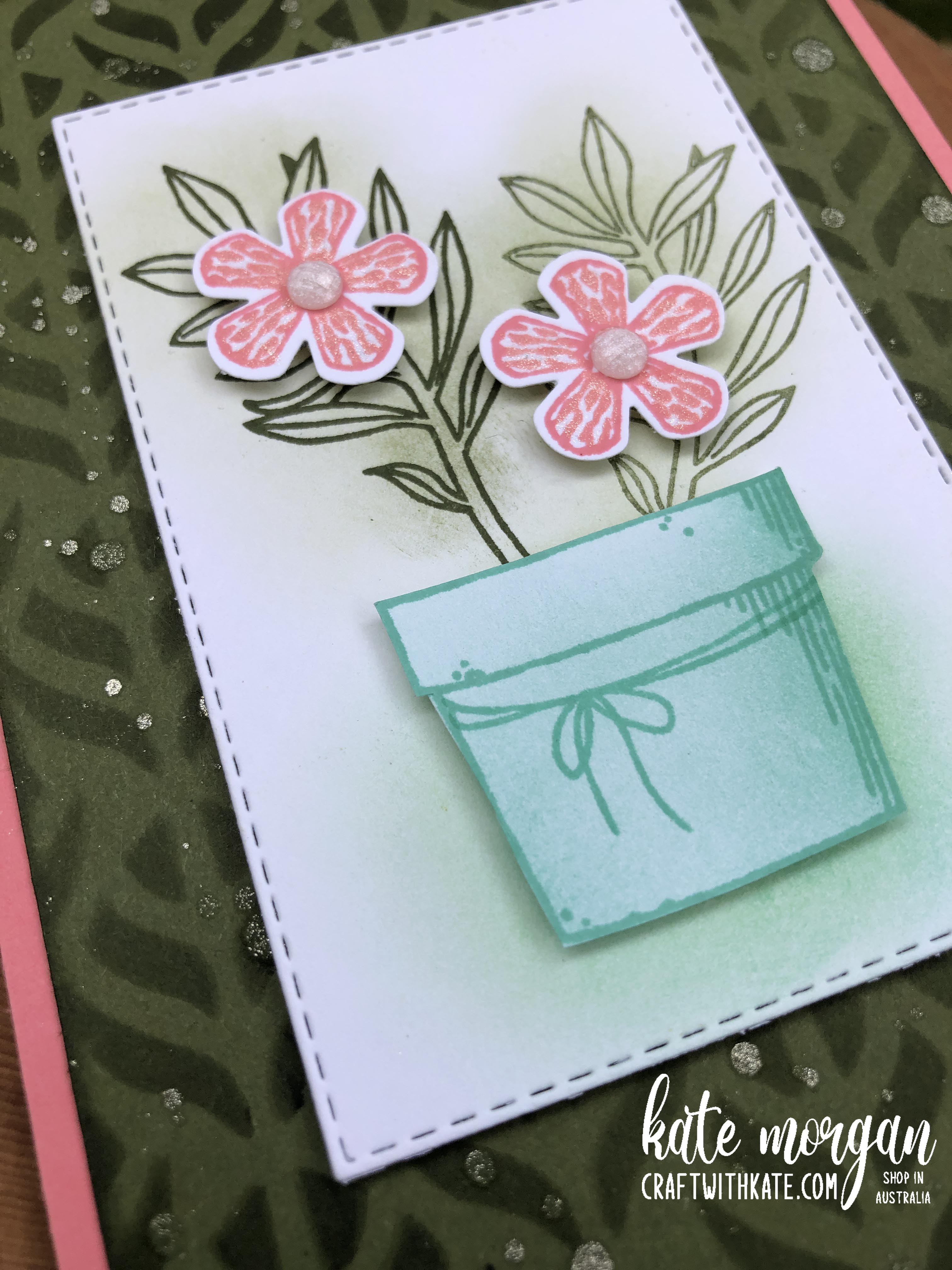 Basket of Blooms for CCS Mossy Meadow by Kate Morgan Stampin' Up Australia 2020