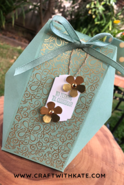 Faceted Gift Box by Craft with Kate Morgan Stampin Up 2020.