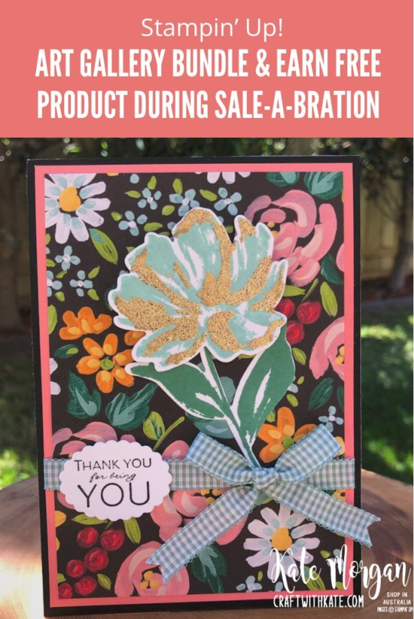 Art Gallery Bundle and Flower & Field DSP by Kate Morgan Stampin Up Australia 2021