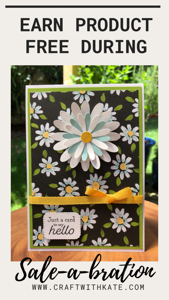 Daisy with Flower & Field DSP and Many Messages by Kate Morgan, Stampin Up Australia 2021.
