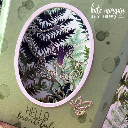 Diorama Fancy Fold card by Kate Morgan, Stampin Up Australia 2021..