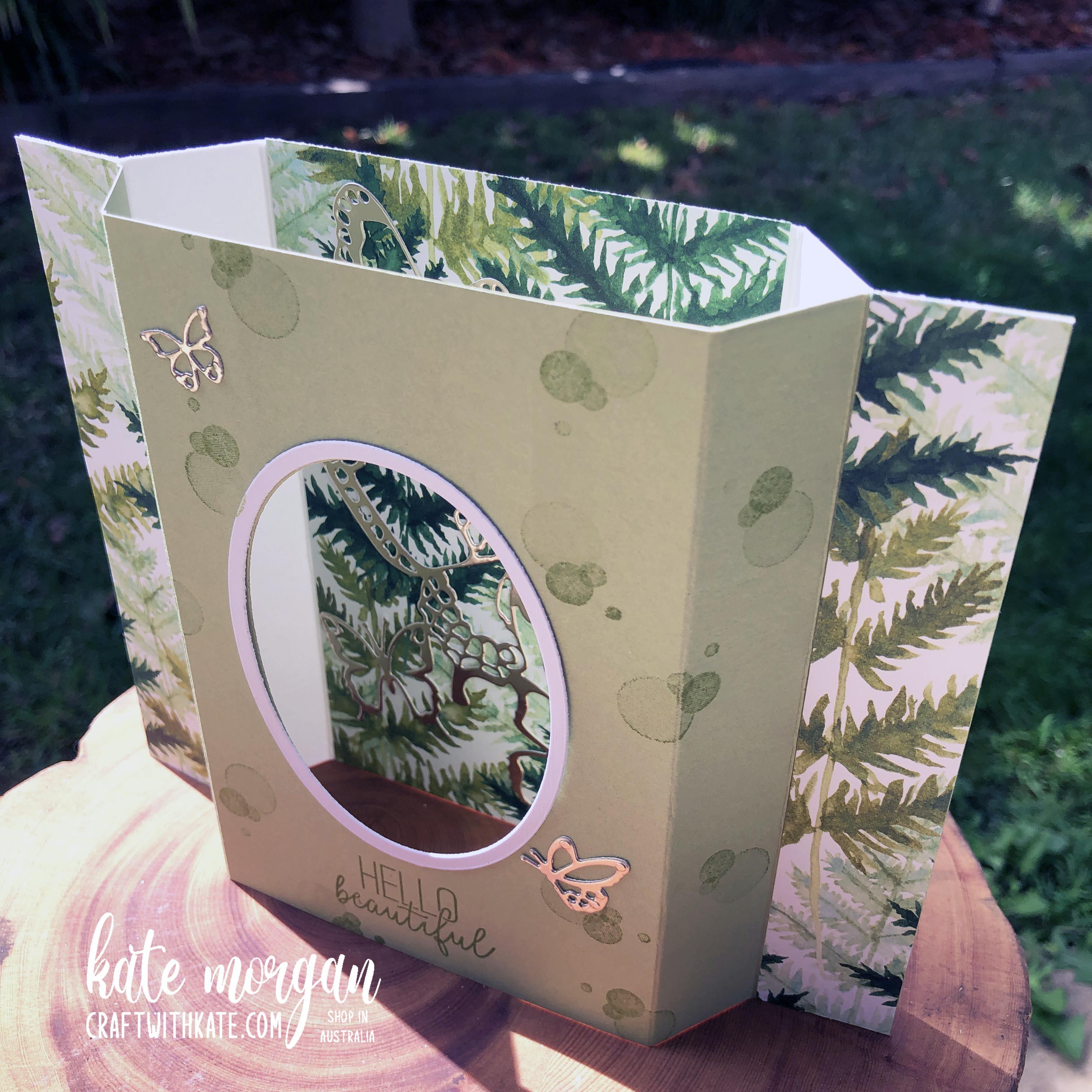 Diorama Fancy Fold card by Kate Morgan, Stampin Up Australia 2021.