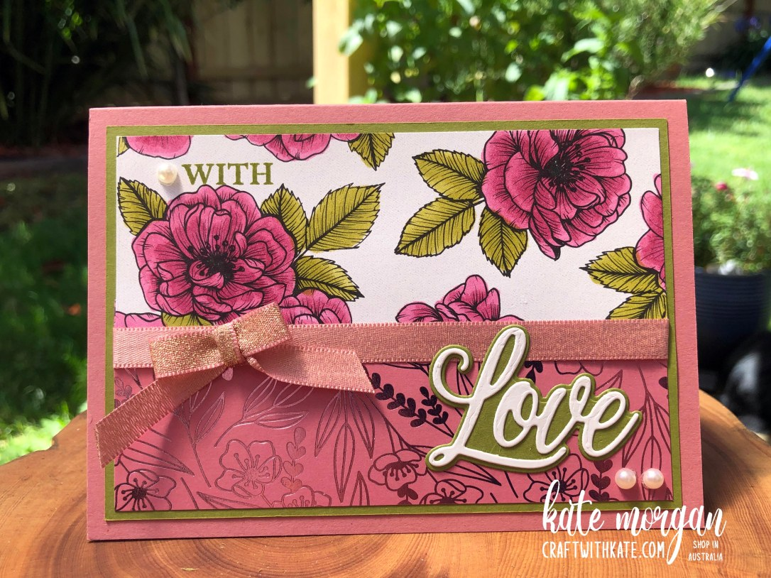 Elegant Love You Always for Old Olive Colour Creations Showcase by Kate Morgan Stampin Up Australia 2021.