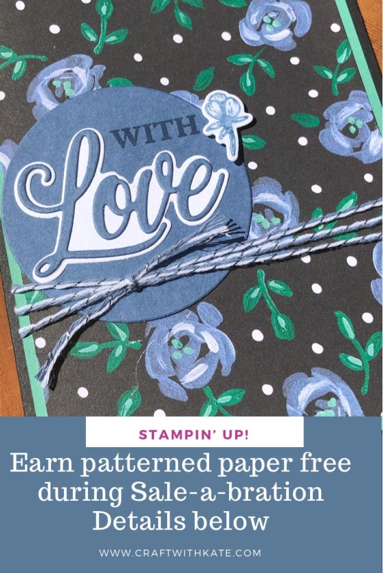 Love You Always and Flower & Field DSP by Kate Morgan Stampin Up Australia 2021