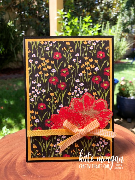Love You Always with Flower & Field DSP by Kate Morgan Stampin Up Australia 2021