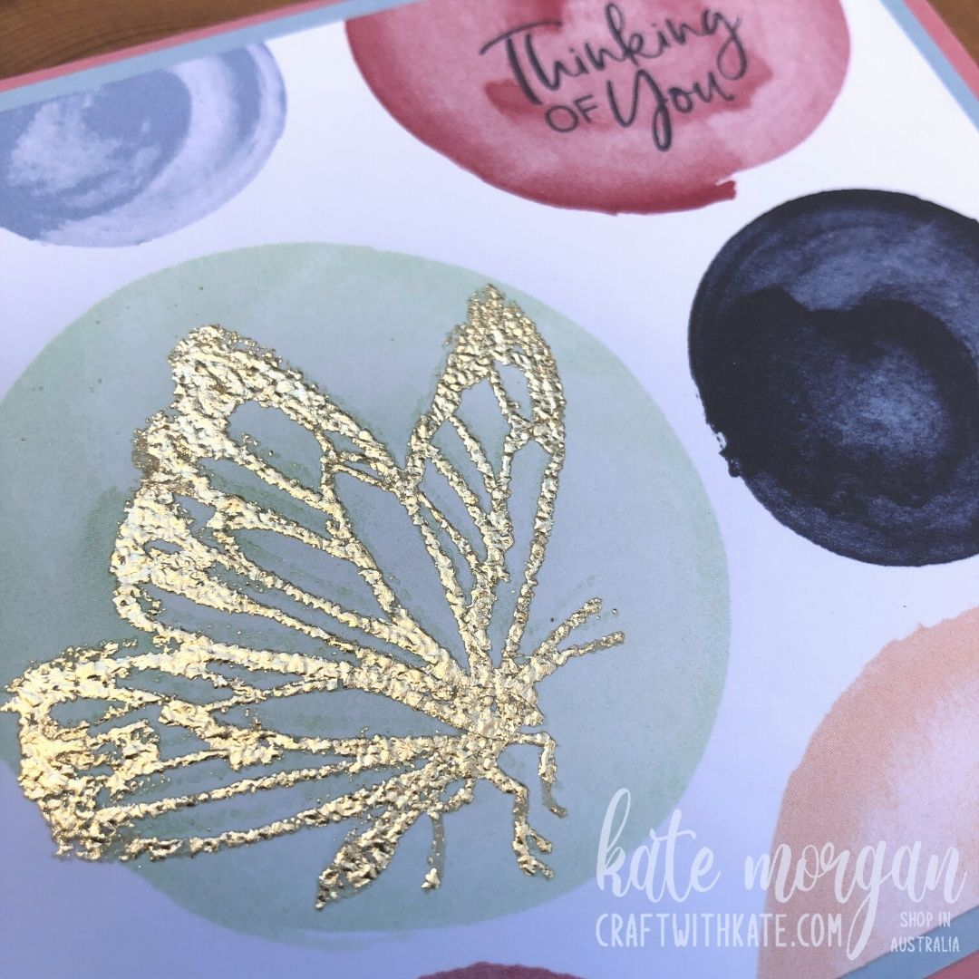 A Touch of Ink card using Saleabration, Paper Blooms DSP Stampin Up Australia 2021 by Kate Morgan closeup