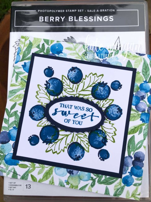 Berry Blessings Saleabration 2021 by Kate Morgan, Stampin Up Australia case
