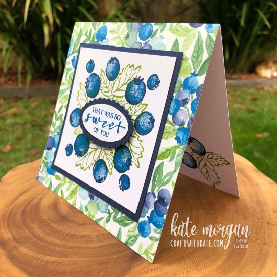 Berry Blessings Saleabration 2021 by Kate Morgan, Stampin Up Australia side