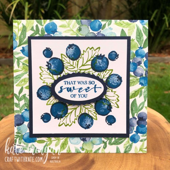 Berry Blessings Saleabration 2021 by Kate Morgan, Stampin Up! Australia