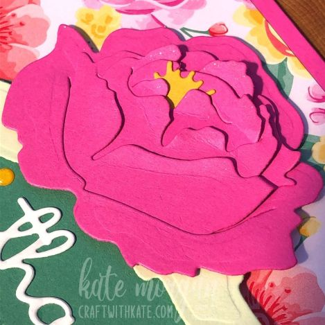 No Stamping Thank You Card using Stampin Up Peony Dies by Kate Morgan, Australia 2021