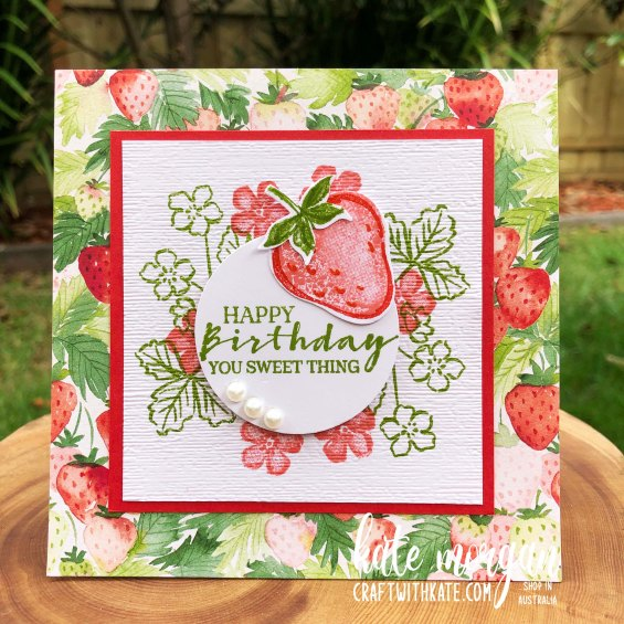 Sweet Strawberry Bundle 2021 by Kate Morgan, Stampin Up Australia cl