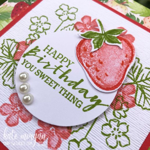 Sweet Strawberry Bundle 2021 by Kate Morgan, Stampin Up Australia flat