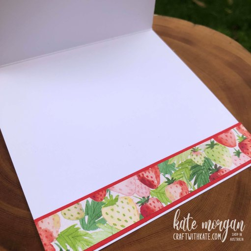 Sweet Strawberry Bundle 2021 by Kate Morgan, Stampin Up Australia inside