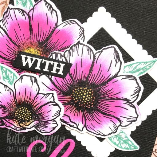 With Love card for AWH Monthly Showcase 2021 using Stampin Up Forever & Always Bundle by Kate Morgan Australia
