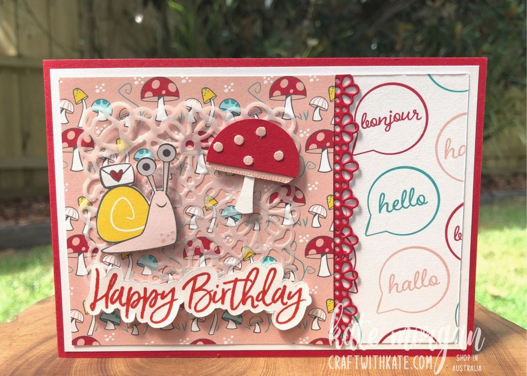 Snail Mail card by Kate Morgan, Stampin Up Australia 2021