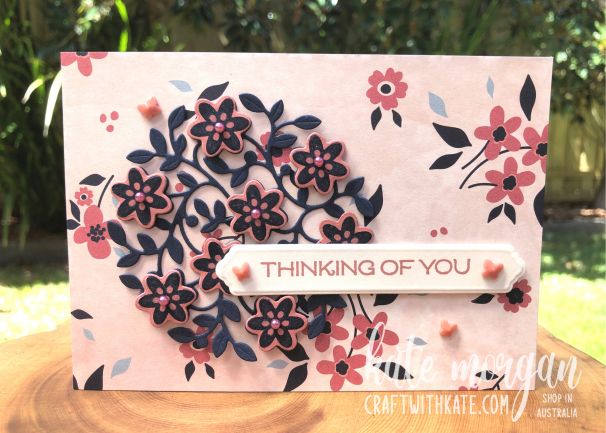Vine Design Thinking of You card by Kate Morgan, Stampin' Up Australia 2021