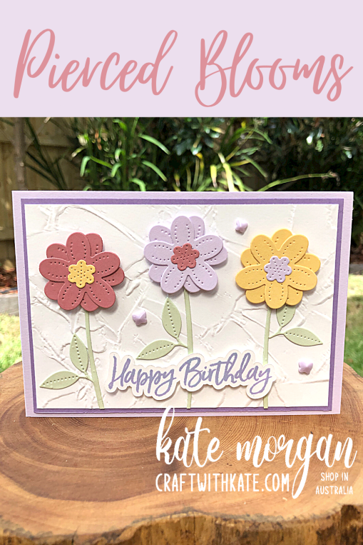 Vine Design Thinking of You card by Kate Morgan, Stampin Up Australia 2021.