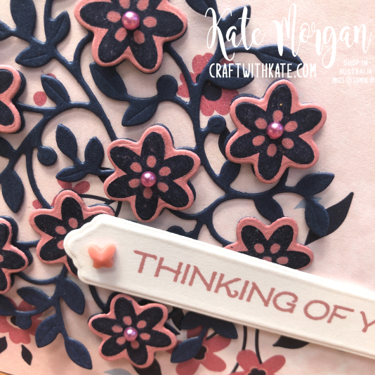 Vine Design Thinking of You card by Kate Morgan, Stampin Up Australia 2021