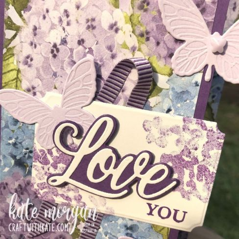 Mother's Day card using Stampin Up by Kate Morgan, Australia 2021 sq