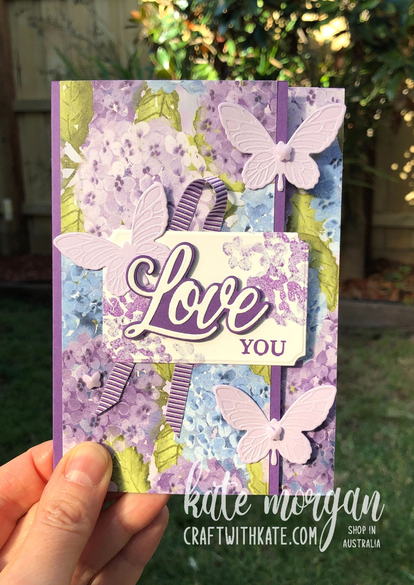 Mother's Day card using Stampin Up by Kate Morgan, Australia 2021.
