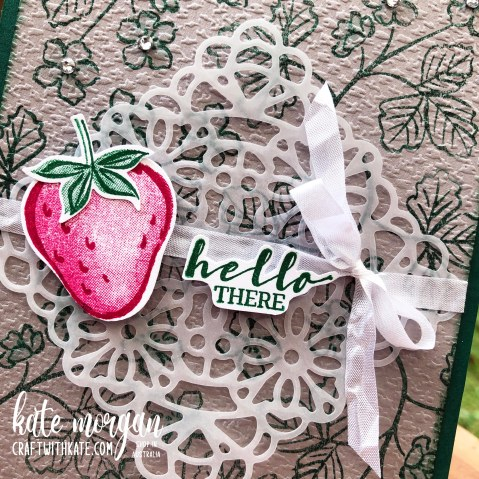 Sweet Strawberry pop up card by Kate Morgan Stampin Up Australia 2021.