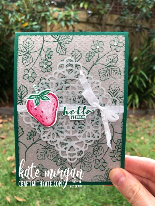 Sweet Strawberry pop up card by Kate Morgan Stampin Up Australia 2021