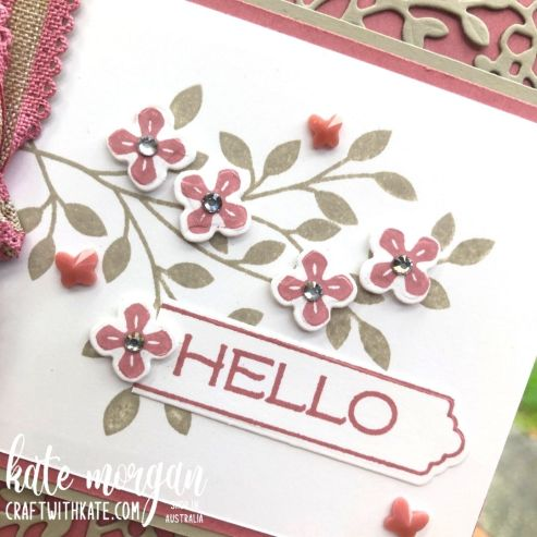 Vine Design Sahara Sand Colour Creations Showcase Feminine card by Kate Morgan, Stampin Up Australia 2021 sq