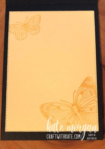 Butterfly Brilliance in So Saffron, Stampin Up by Kate Morgan, Australia 2021 inside