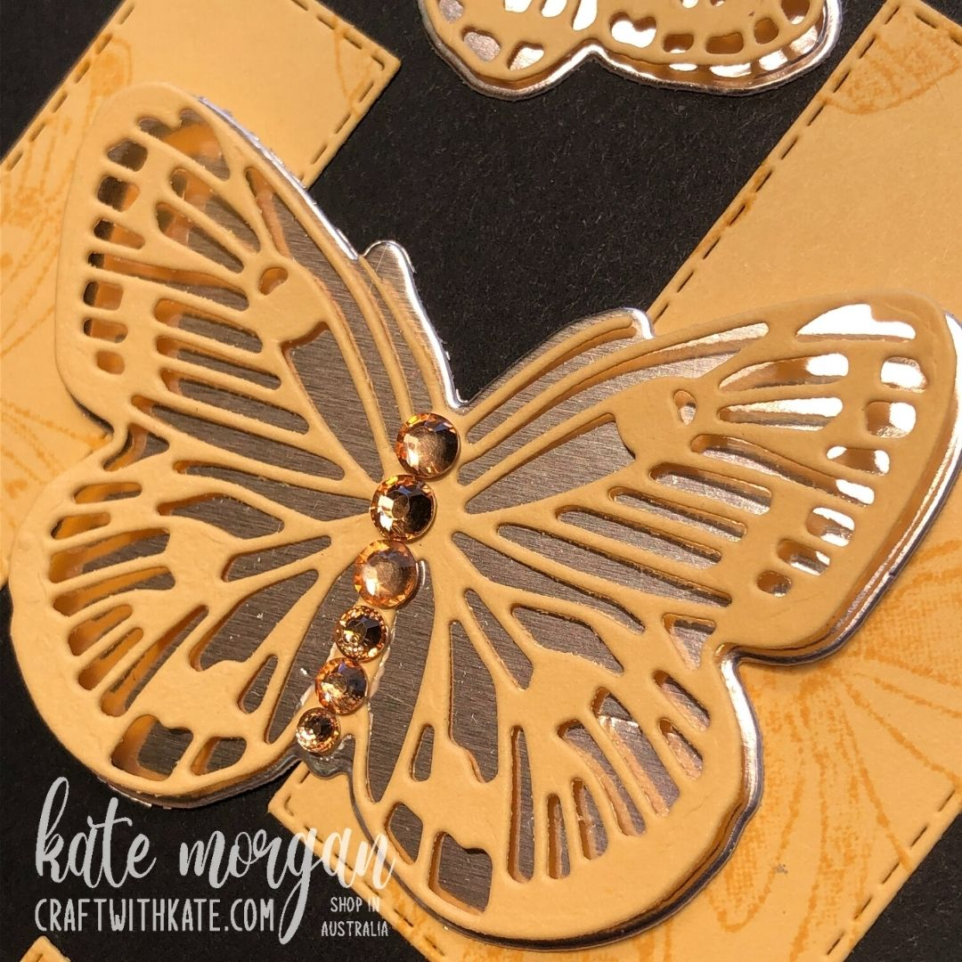 Butterfly Brilliance in So Saffron, Stampin Up by Kate Morgan, Australia 2021.