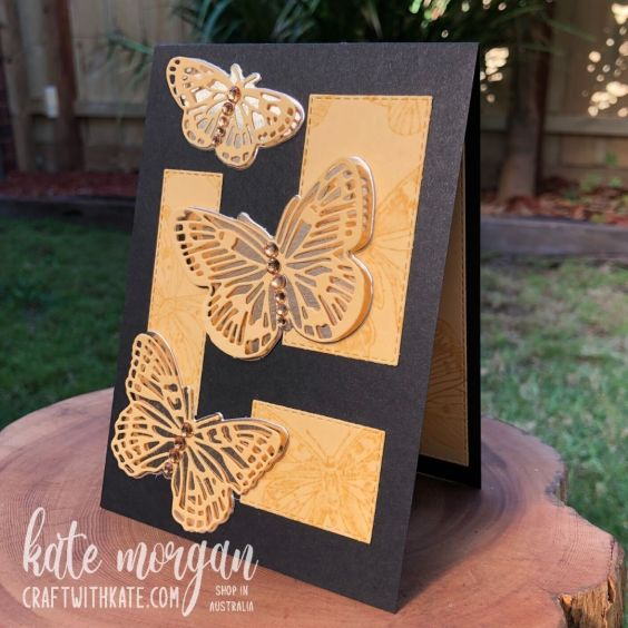 Butterfly Brilliance in So Saffron, Stampin Up by Kate Morgan, Australia 2021