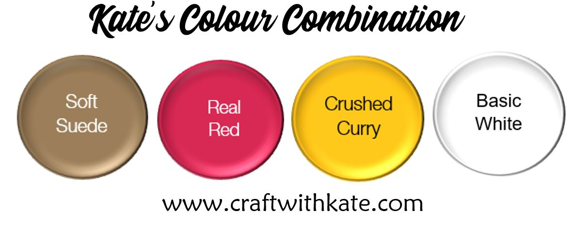 Colour Combination - Soft Suede Real Red Crushed Curry Basic White