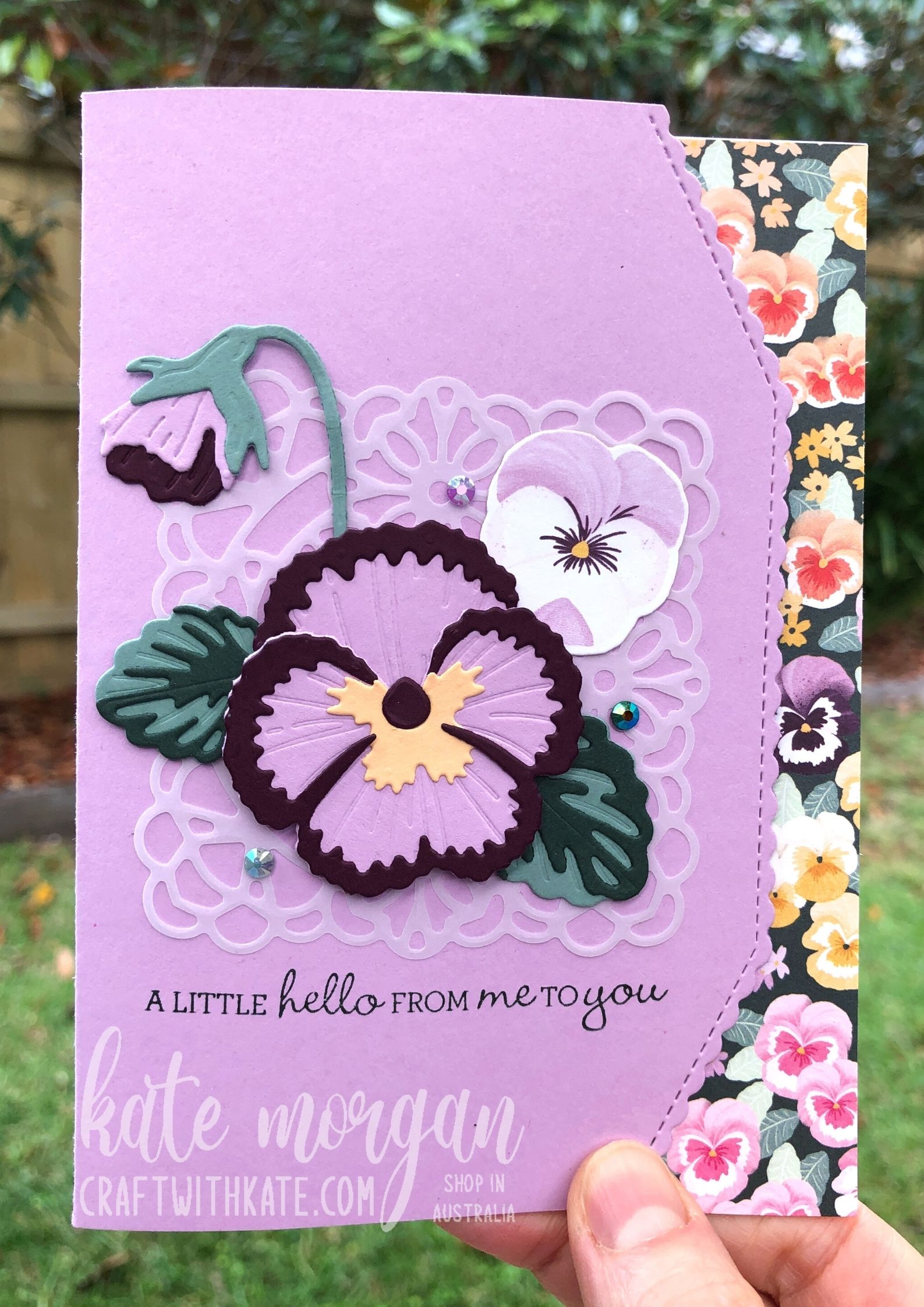 Fresh Freesia Pansy Patch & Border dies by Kate Morgan Stampin Up Australia 2021