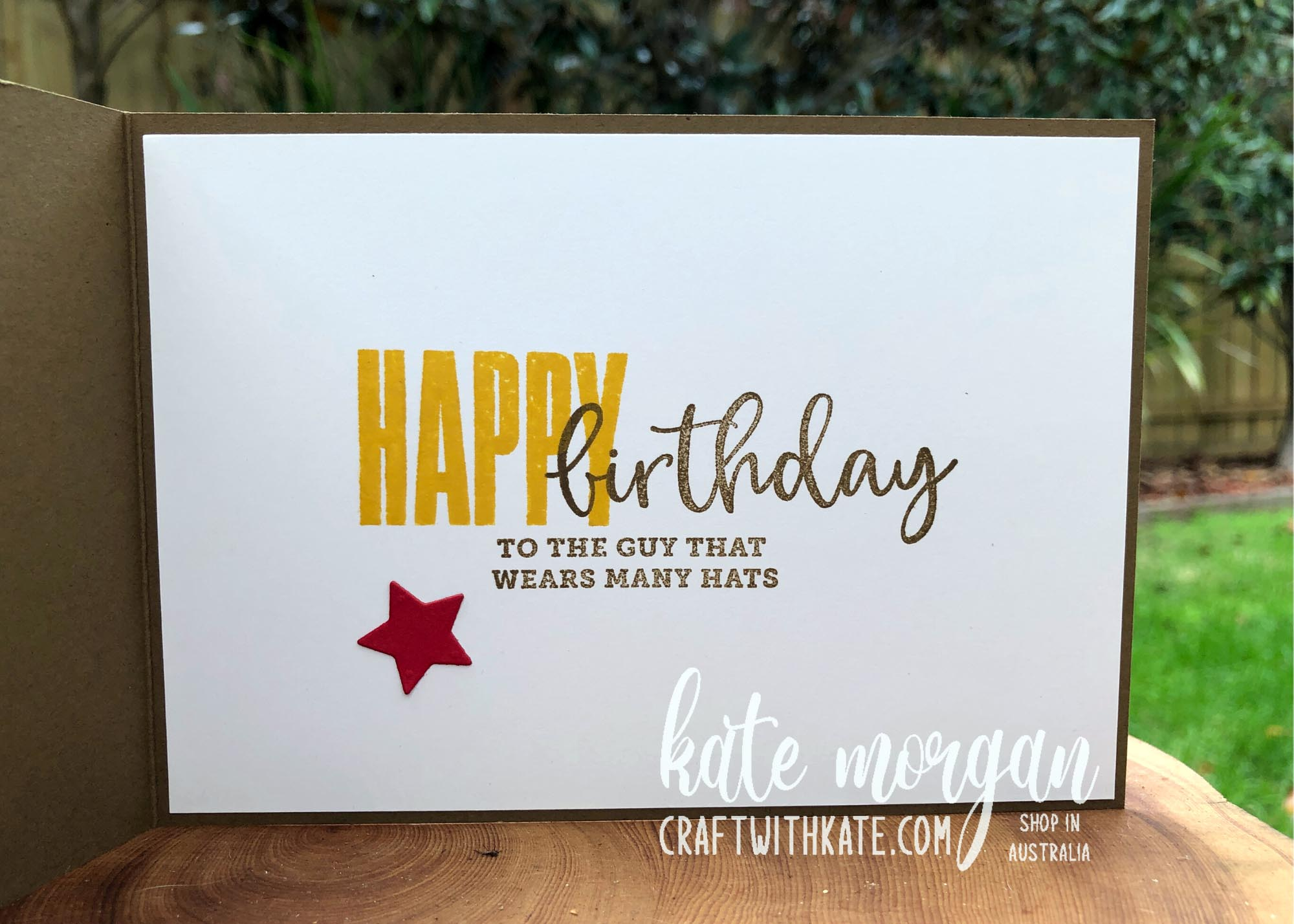 Hats Off & Biggest Wish, Stampin Up by Kate Morgan, Australia 2021 Colour Creations Showcase