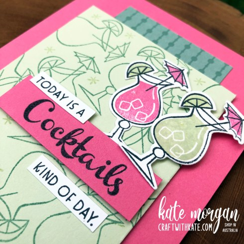 Nothings Better Than Cocktails card by Kate Morgan Stampin Up Australia 2021 close up