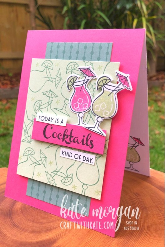 Nothings Better Than Cocktails card by Kate Morgan Stampin Up Australia 2021