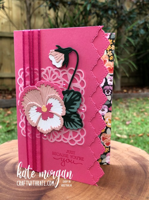 Polished Pink Pansy Patch & Border dies by Kate Morgan Stampin Up Australia 2021