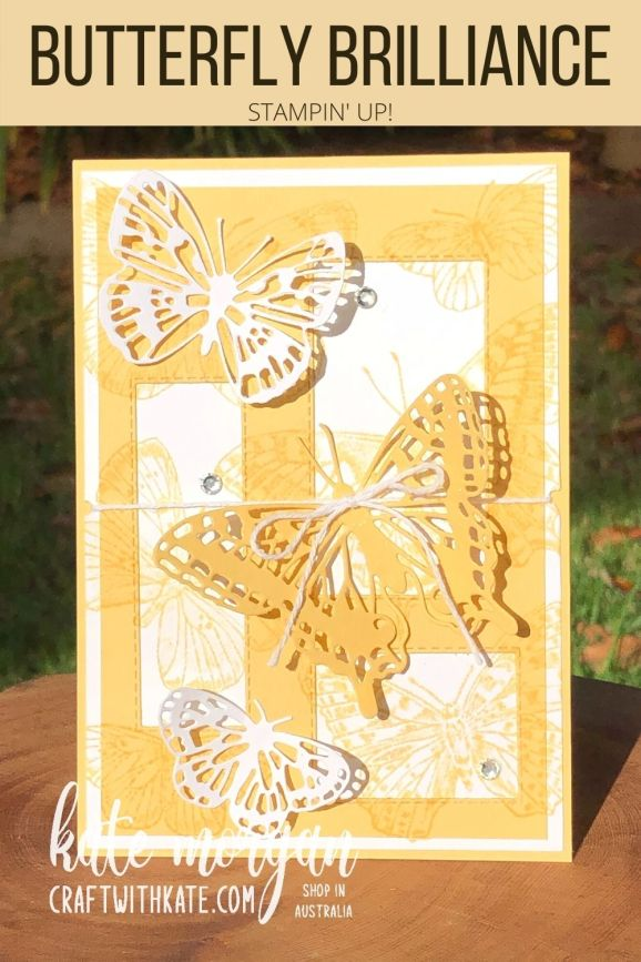 So Saffron for CCS Butterfly Brilliance Stampin Up by Kate Morgan, Australia 2021