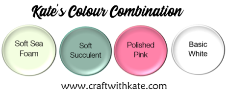 Soft Sea Foam Soft Succulent Polished Pink Basic White