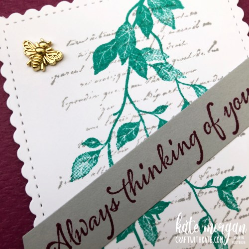Very Versaille card by Kate Morgan Stampin Up Australia 2021 close up
