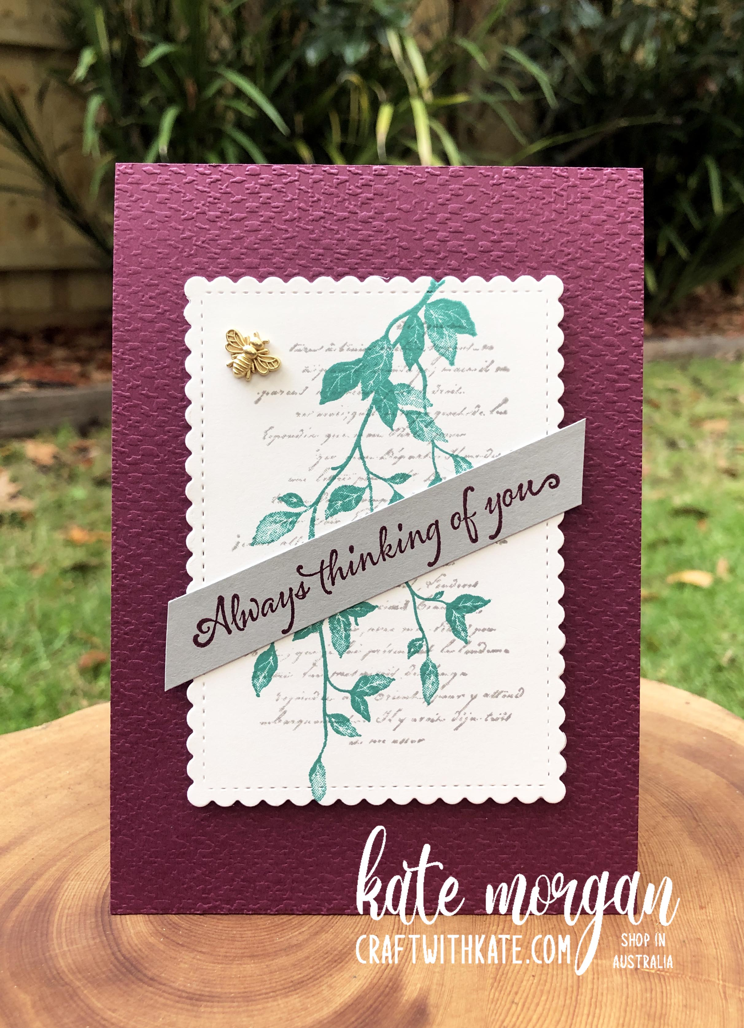 Very Versaille card by Kate Morgan Stampin Up Australia 2021.