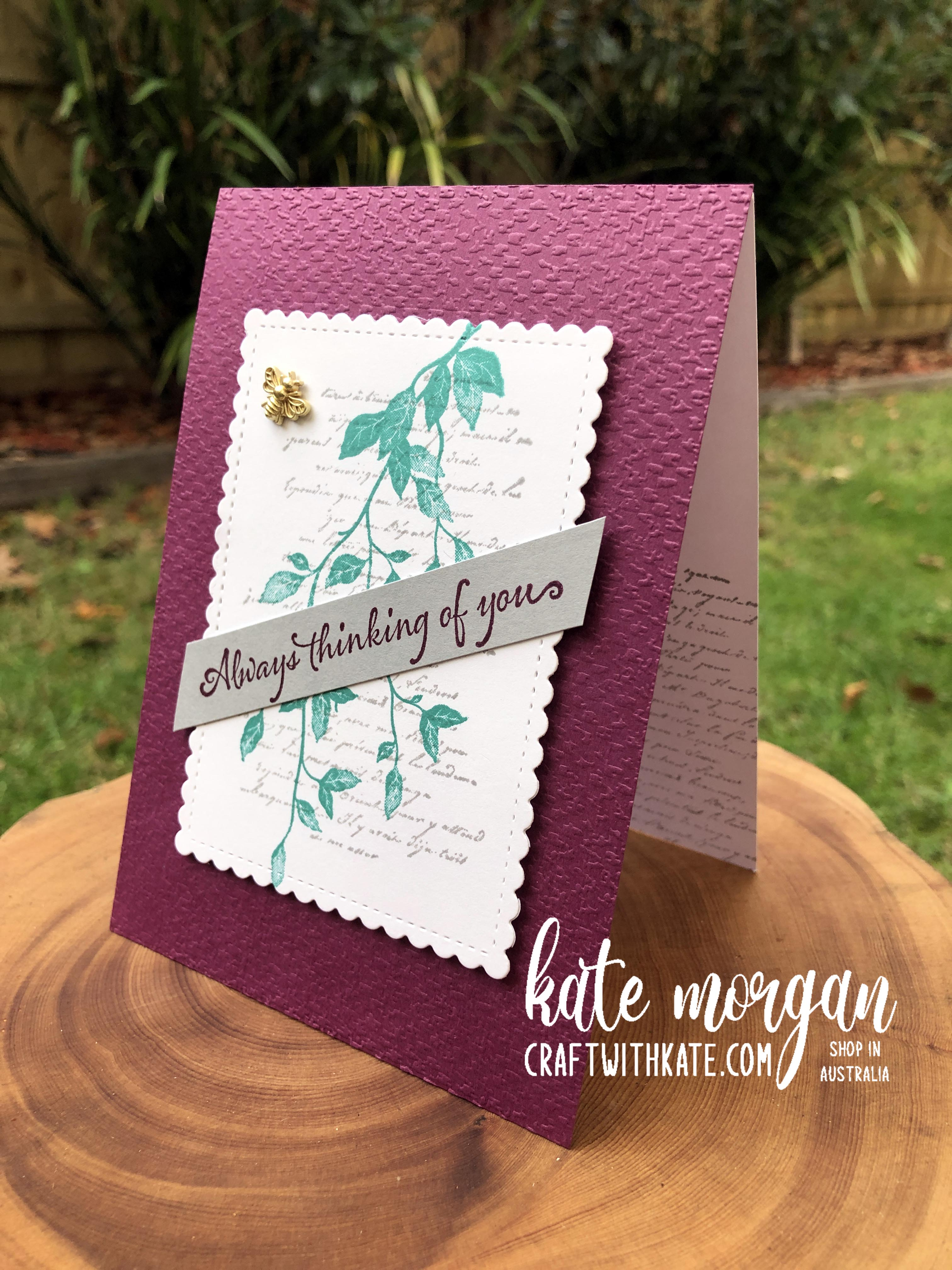 Very Versaille card by Kate Morgan Stampin Up Australia 2021