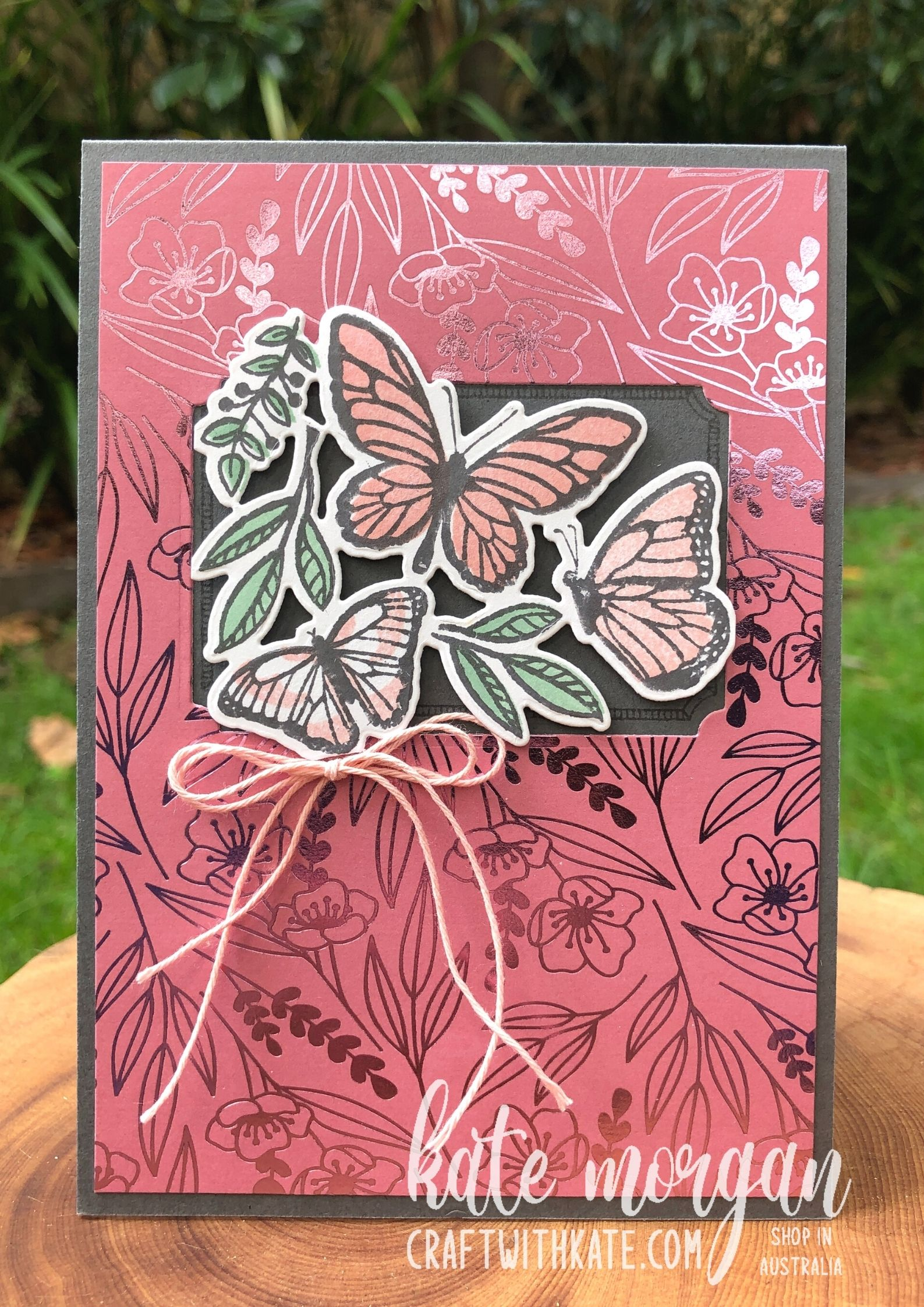 Floating & Fluttering Bundle Basic Gray CCBH 2021 by Kate Morgan, Stampin Up Australia