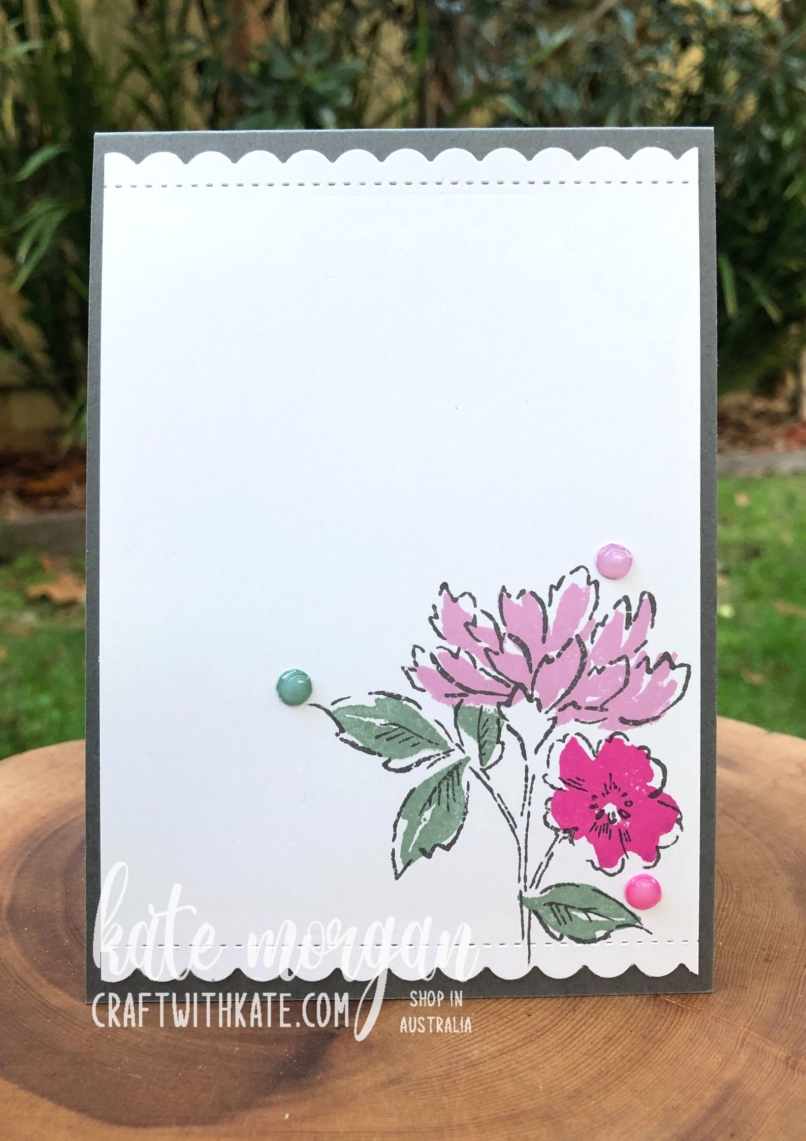 Hand-Penned Bundle for Basic Gray CCS by Kate Morgan, Stampin Up Australia 2021 inside