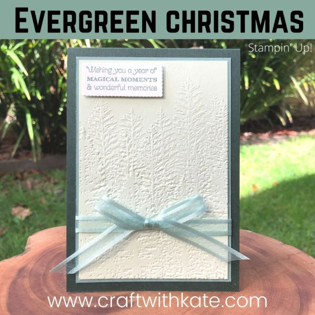 Evergreen Christmas card for HOC blog hop by Kate Morgan, Stampin Up Australia 2021