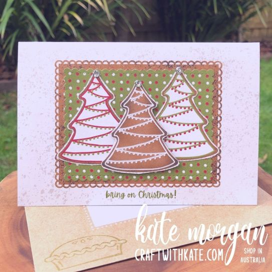 Gingerbread & Peppermint Suite, Stampin Up 2021 by Kate Morgan, Australia